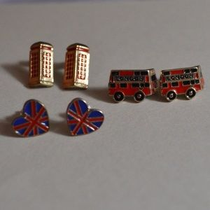 London themed earring set